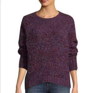IRO Sweater Violet Jelan Ribbed Boucle Knit Mohair